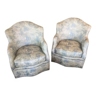 "Swaim ""Kink"" Swivel Chairs - A Pair For Sale"