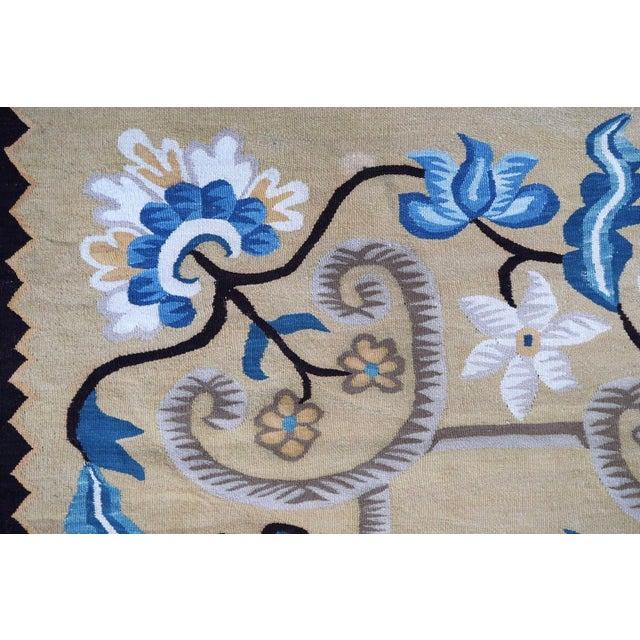 Traditional 1950s, Handmade Vintage Romanian Bessarabian Kilim 5.6' X 9.2' For Sale - Image 3 of 7