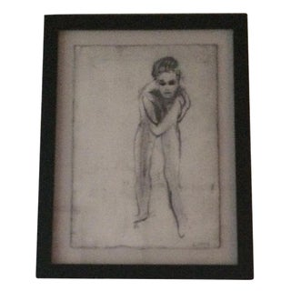 """""""Nude 13"""" Charcoal Drawing by Matt Alston For Sale"""