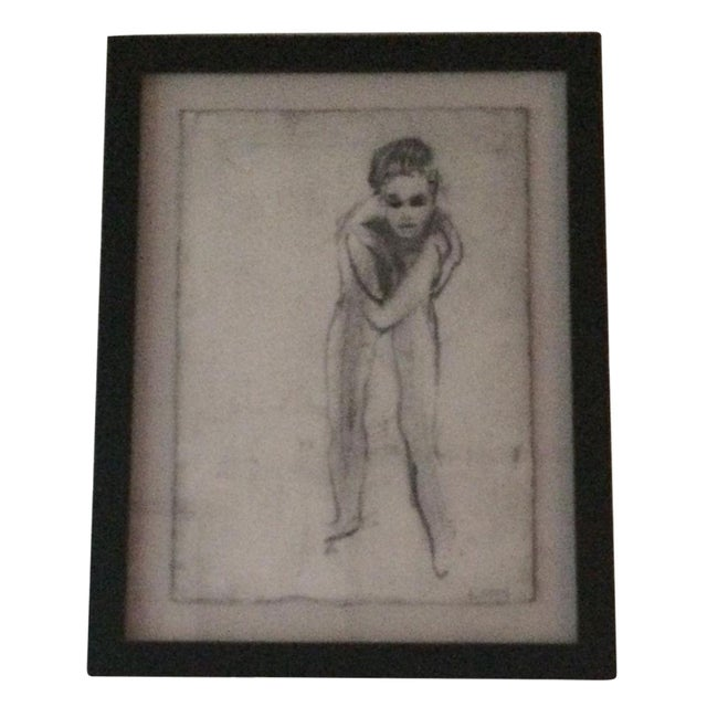 """""""Nude 13"""" Charcoal Drawing by Matt Alston - Image 1 of 3"""