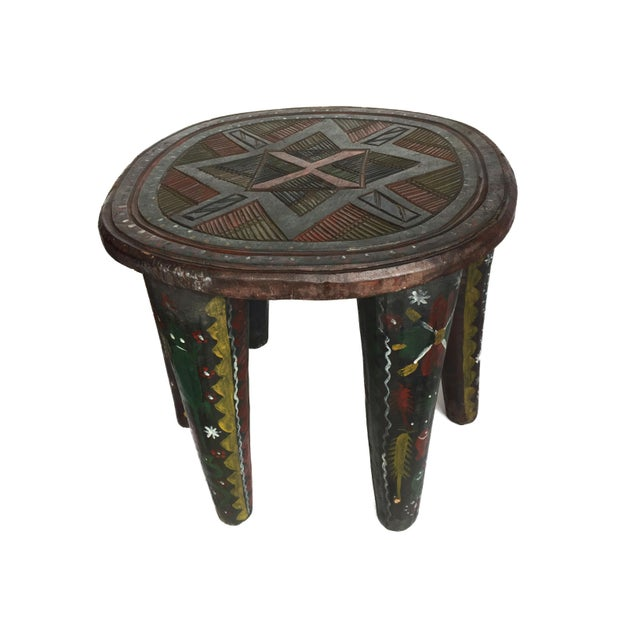 """African Lg Nupe Stool Nigeria 16.75"""" H by 20.5"""" W For Sale - Image 11 of 13"""