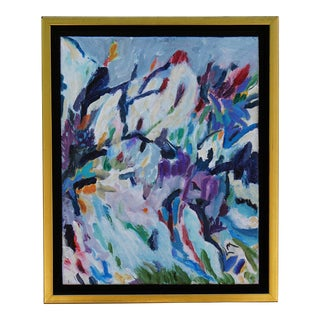 "Laurie MacMillan ""Sierra June"" Abstract Landscape Painting For Sale"