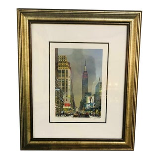 Alexander Chen Empire State Building Print Signed and Numbered, Framed For Sale