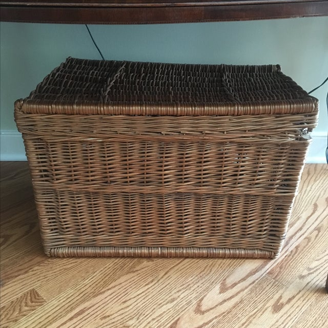 Vintage Wicker Trunk - Image 2 of 6