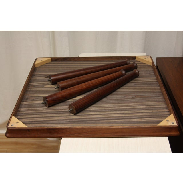 1960s Henning Kjærnulf for Vejle Stole Rosewood Side Tables - A Pair For Sale - Image 5 of 10