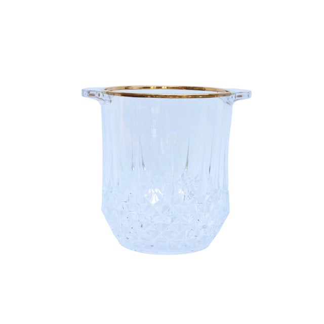 Cut Glass Champagne Bucket & 4 Champagne Flutes For Sale In New York - Image 6 of 9