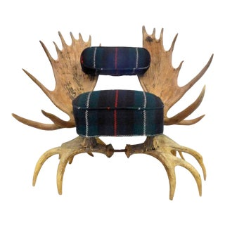 Spectacular American Moose Antler Chair For Sale