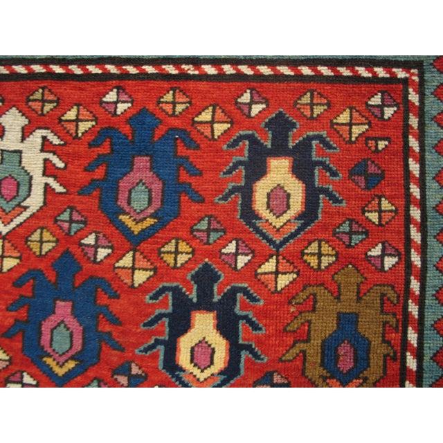 """Late 19th Century Antique Caucasian - Kazak Rug 4'0"""" X8'6"""" For Sale - Image 5 of 7"""