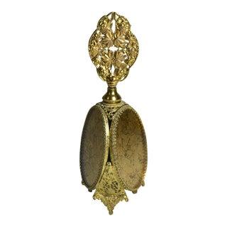Gilt Gold Foil Filigree Perfume Bottle