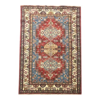 Kazak Hand-Knotted Rug - 3′3″ × 5′ For Sale