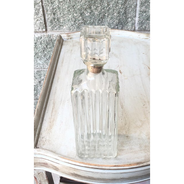 Art Deco Prohibition Era Tall Glass Liquor Bottle - Image 7 of 8