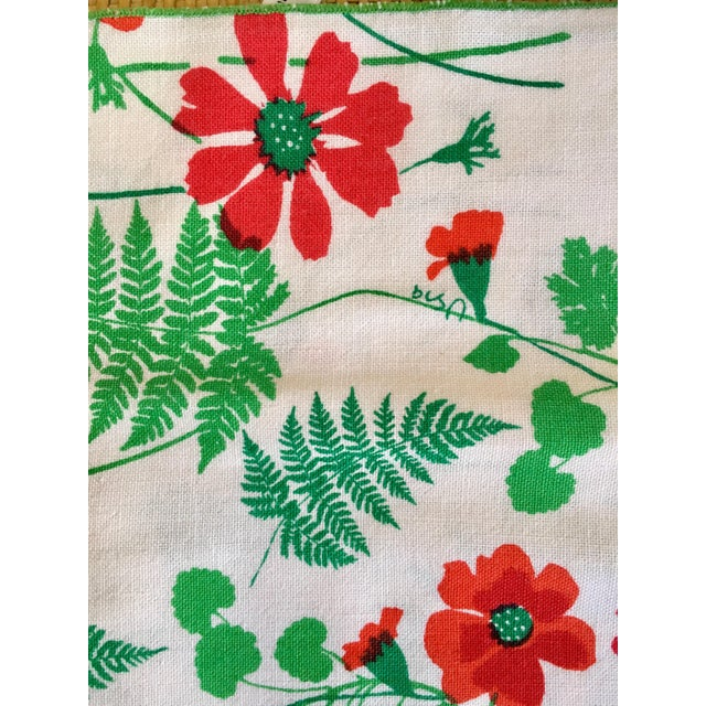 Vintage Vera Floral Cotton Napkins With Ferns- Set of Four For Sale - Image 4 of 5
