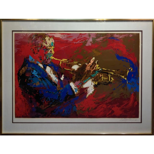 "This is a Leroy Neiman Original 1976 Silkscreen of ""Satchmo Louis Armstrong"". This serigraph was donated to USC by Mr. and..."
