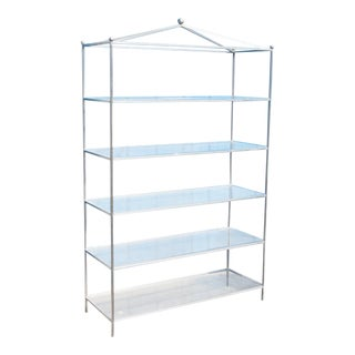 Mid-Century Modern Chrome & Lucite Etagere For Sale