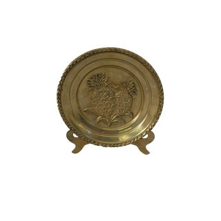 Vintage Charleston Brass Pineapple Plate For Sale