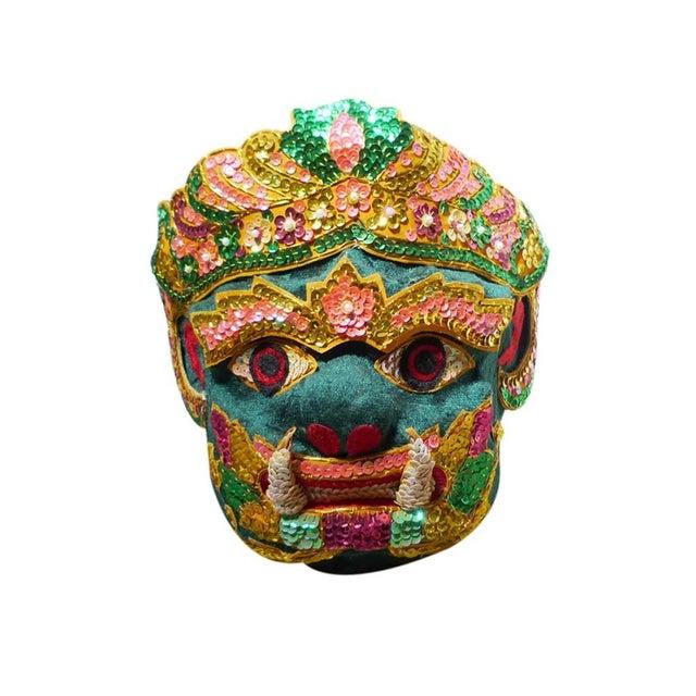 Vintage Thai Ceremonial Mask For Sale