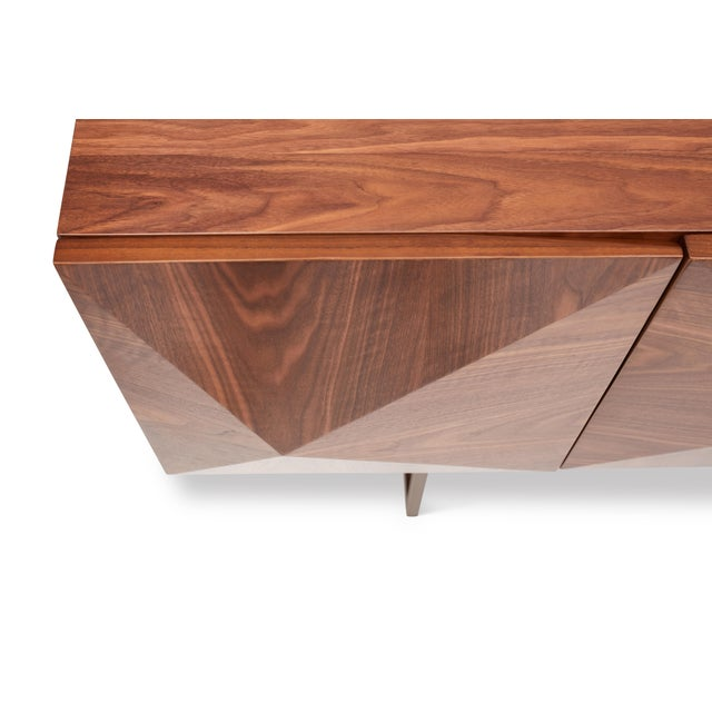 2010s Cube Sideboard in Brown For Sale - Image 5 of 9