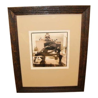 Sepia Toned Double Exposure Yoga Position and Room Photograph For Sale