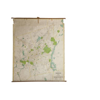 Massachusetts Pull Down School Map For Sale