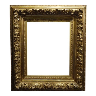 19th Century -Highly Carved & Ornate Gilt-Wood Frame For Sale