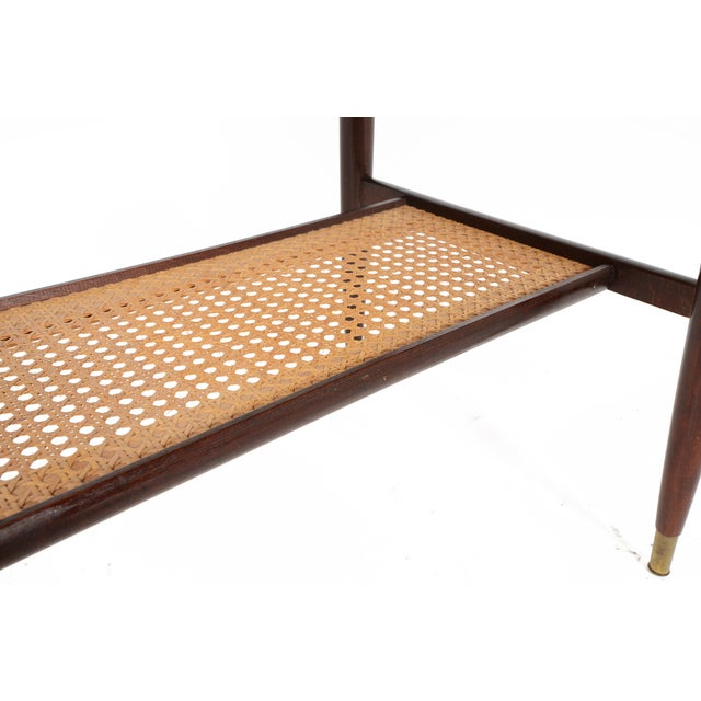 Danish Modern Rosewood Side Table With Rack - Image 7 of 7