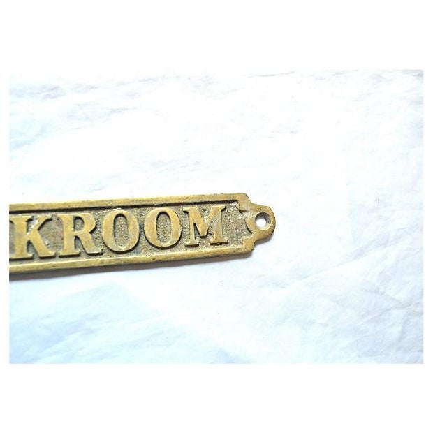 British 'Cloakroom' Brass Plaque - Image 4 of 10