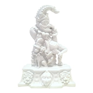 "Antique English Cast Iron Sculptural ""Punch"" Door Stop For Sale"