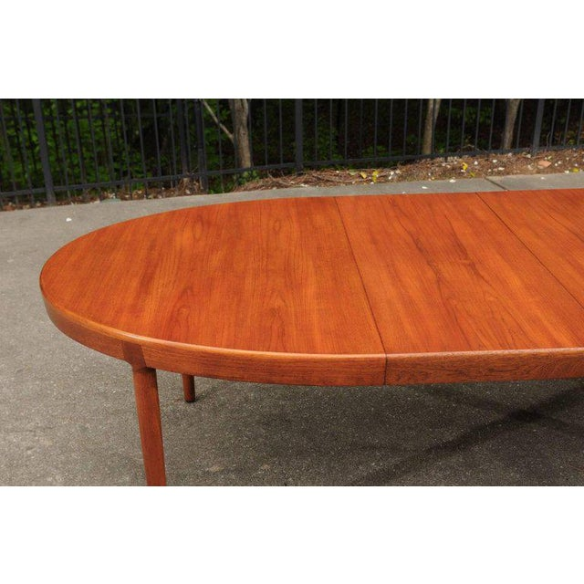 Randers Møbelfabrik Magnificent Teak Extension Dining Table by Harry Ostergaard, Circa 1963 For Sale - Image 4 of 11