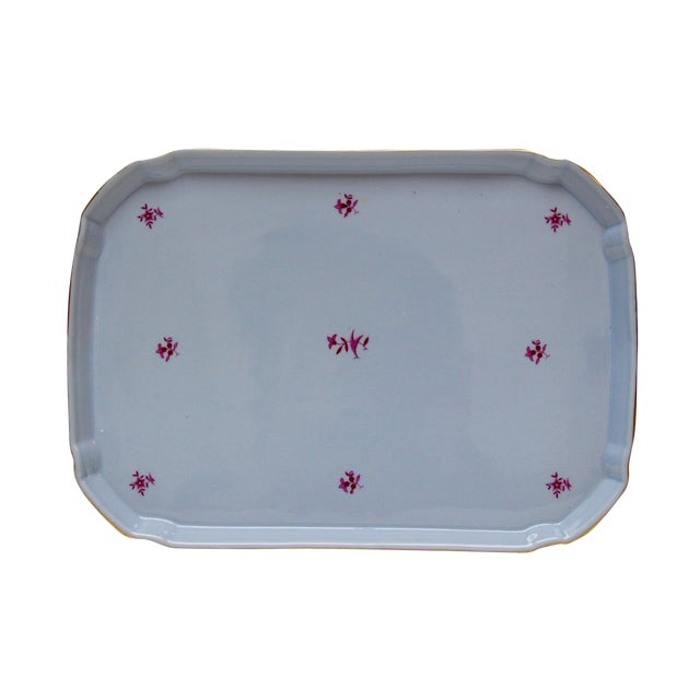 German Blue & Gold Porcelain Vanity Tray - Image 1 of 5