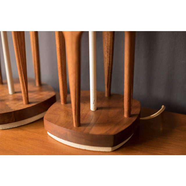 Wood Mid-Century Modern Tony Paul for Westwood Lamps - a Pair For Sale - Image 7 of 11