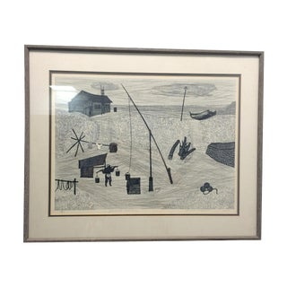1964 Fumio Kitaoka Woodblock Print For Sale
