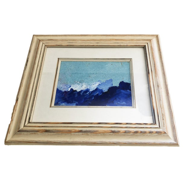"""Yjr Acrylic on Paper Framed Landscape 11"""" by 13"""" For Sale - Image 4 of 5"""