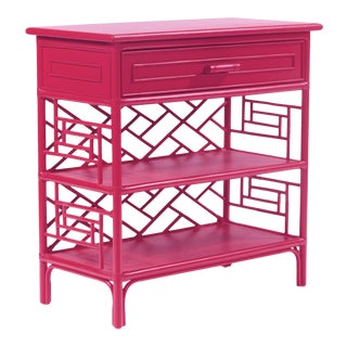 Chippendale End Table - Bright Pink For Sale