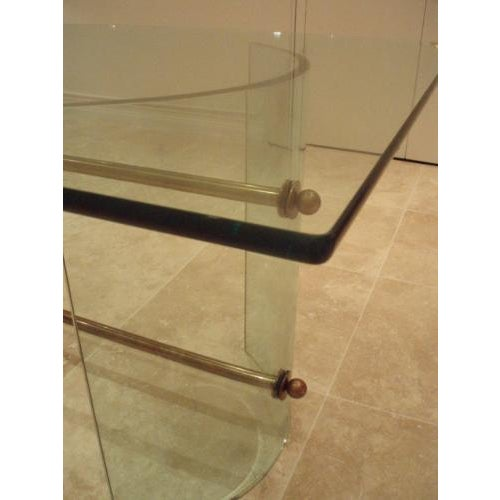 Fontana Arte Pietro Chiesa for Fontana Arte Rare All Crystal Dining Table For Sale - Image 4 of 4