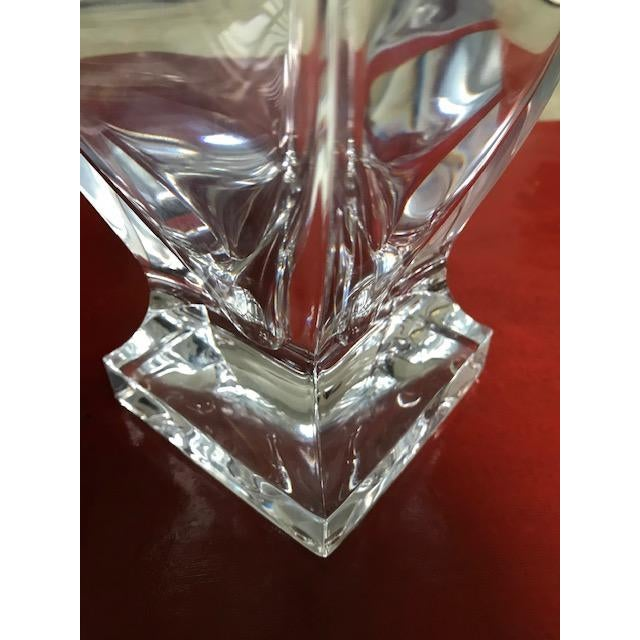 Israeli Crystal Vase With Sterling Silver Band For Sale In Miami - Image 6 of 10