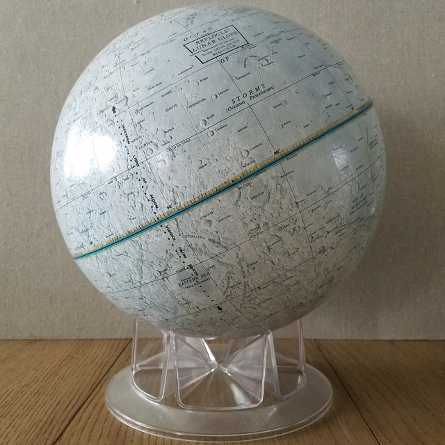 Mid Century Replogle Lunar Moon Globe For Sale - Image 10 of 10