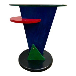 Abstract Memphis Style Side Table