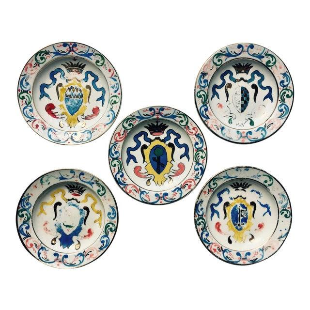 5 Vintage Florentine Trinket Dishes For Sale