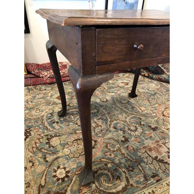 Antique English Farmhouse Mahogany Writing Table For Sale - Image 10 of 13