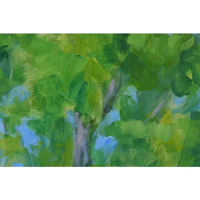 """Canvas 2010s Contemporary Painting, """"Treetops Painting"""" by Stephen Remick For Sale - Image 7 of 12"""