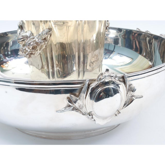 Sheffield Large English Sheffield Silver Plated Champagne Cooler With Ice Bucket For Sale - Image 4 of 13