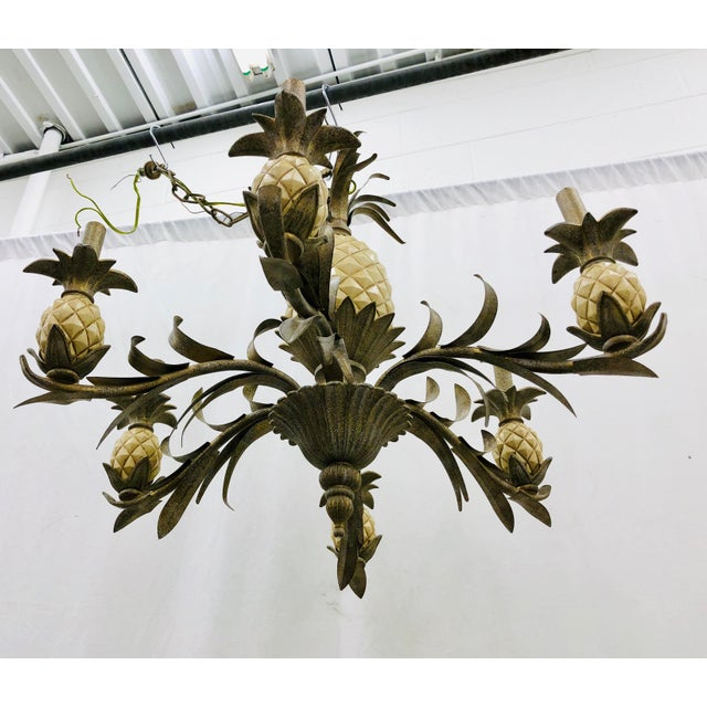 Vintage Pineapple Chandelier For Sale In Raleigh - Image 6 of 8