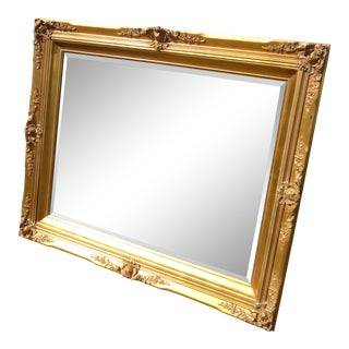 Gorgeous French Provincial Gold Gilt Wall Mantle Mirror For Sale