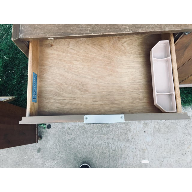 1974 Broyhill Premier Division Credenza With Mirror For Sale - Image 6 of 12