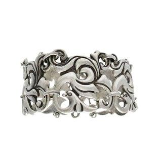 Vintage Mexican Sterling Silver Link Bracelet For Sale