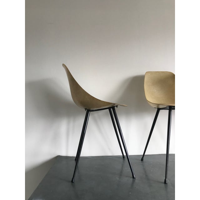 X4 1950's french design ultra light resin chairs