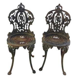 Set of Seven 19th Century Victorian Garden Seats For Sale