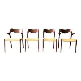 Rosewood Danish Dining Chairs by Møller - Set of 4 For Sale
