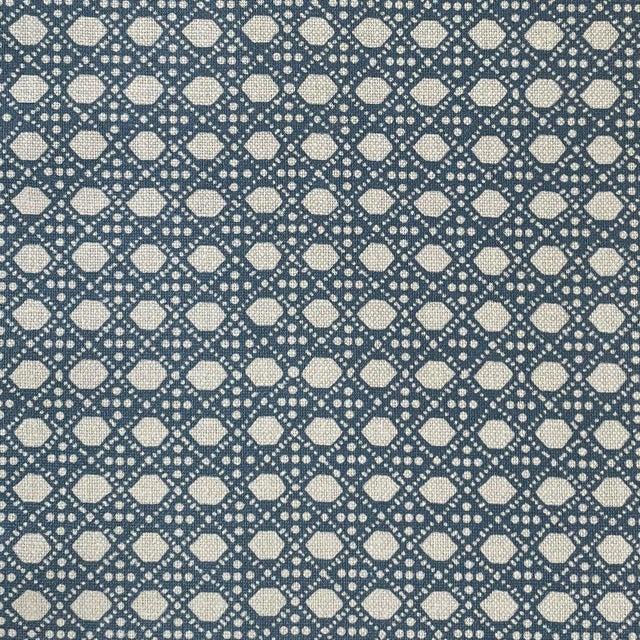 LuRu Home Wickerwork Fabric, Sample in Pond Sample For Sale - Image 4 of 4