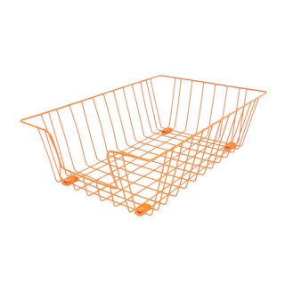 Tanker Office Desk Orange Inbox Wire Basket For Sale